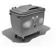 Poubelle container 3d