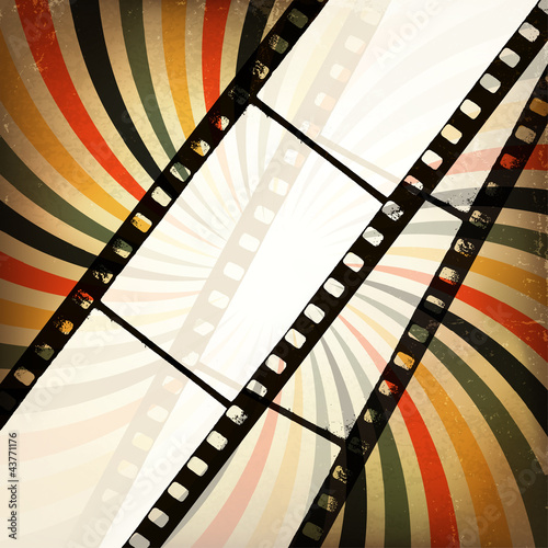 Grunge cinema background. Vector, EPS10