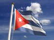 Cuba flag (with clipping path)