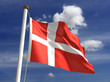 Denmark flag (with clipping path)