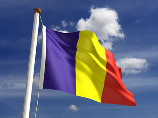 Romania flag (with clipping path)