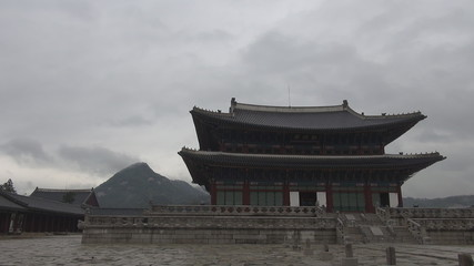 Timelapse of Geunjeongjeon Hall,Seoul,South Korea