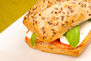Bread roll with seeds