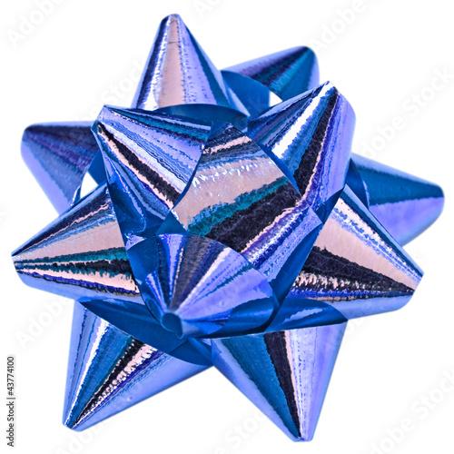 noeud bleu décoration emballage paquet cadeau