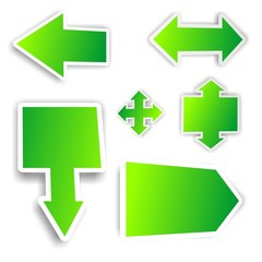 Green arrows sticker set