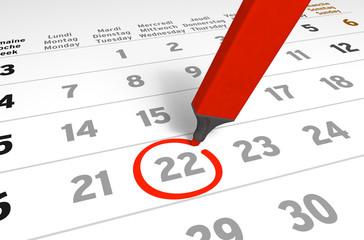 Kalender-Serie: wichtiger Termin