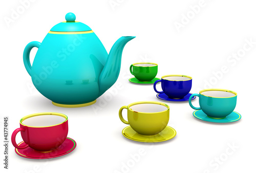 cups with teapot