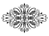 Rhombus flower ornament poster
