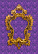 frame of golden isolated with clipping path