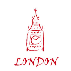 Drawing Logo London, Big ben # Vector