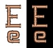 Copper Tubing Fittings 3D Letter E - Set