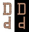 Copper Tubing Fittings 3D Letter D - Set