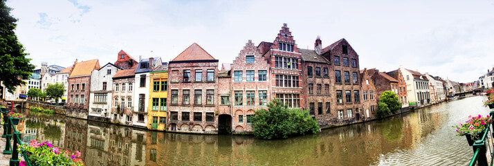Channel in center of Ghent, Belgium