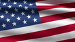 USA flag background, 3d animation. seamless loop