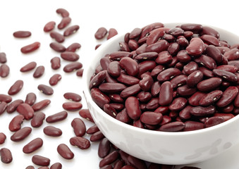 close up of a bowl of red beans