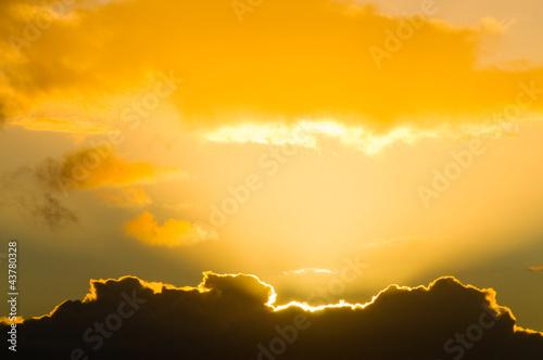 golden lining cloud
