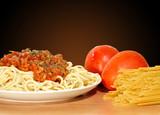 Fototapeta Receta de Spaghetti.