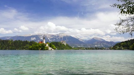 Time lapse of lake Bled, Slovenia