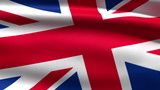 British flag background, 3d animation.seamless loop