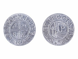 Viking coin - modern replica - front and reverse