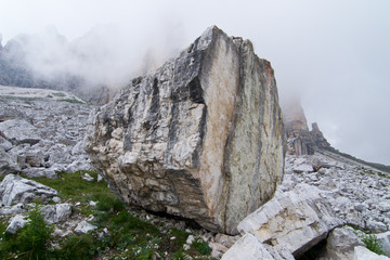 Dolomites, rock next to peaks of Lavaredo