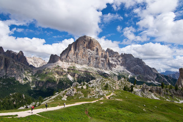 Dolomites, landscape near peaks of the five towers