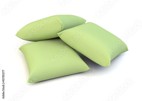 green pillows
