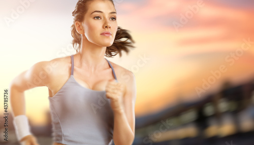 Leinwandbild Motiv girl in sport