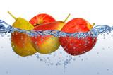 Fototapete Essen - Wasser - Obst