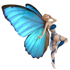 elf butterfly thinking about pin up
