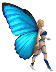 elf butterfly walking pin up