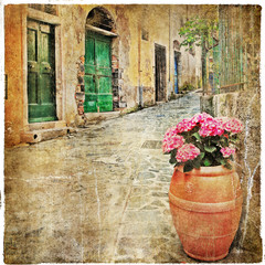 charming old streets of mediterranean