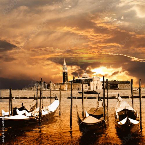Obraz sunset in Venice