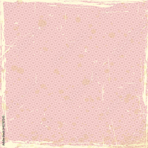 grunge background with heart pattern