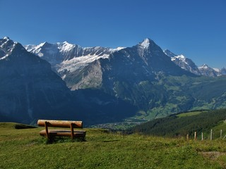 View Of The Eiger And Grindelwald
