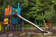 High sliding construction in public park
