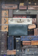 Old Suitcases in window display