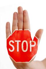 Hand mit Stopzeichen