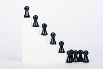 Anstehen an der Karriereleiter