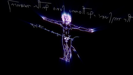 This animation is inspired by Leonardo Da Vinci's The Vitruvian