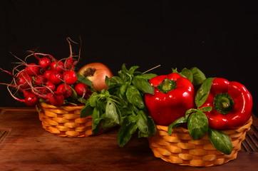 verduras y condimentos