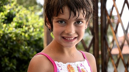 portrait of a nice young girl