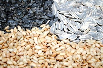 Assortment of 3 Types of Sunflower Seeds