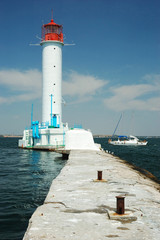Vorontsov Lighthouse in Odessa's port, Ukraine
