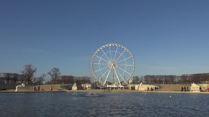 Ferris-wheel in Paris from Tuileries Gardens