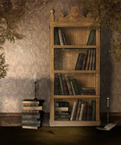 Stary regał na książki