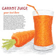 carrot vegetable and a glass of carrot juice