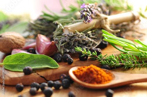 Fotobehang Aromatische Gewürze, Paprika