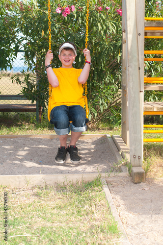 teenager on the playground