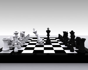 Chess 3D - clash between King